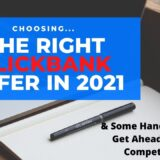 choosing the right clickbank offer